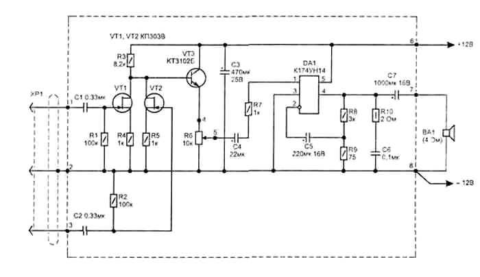 Микросхема DA1 применена в